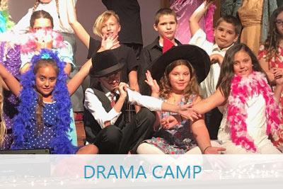 Children participating in a drama camp